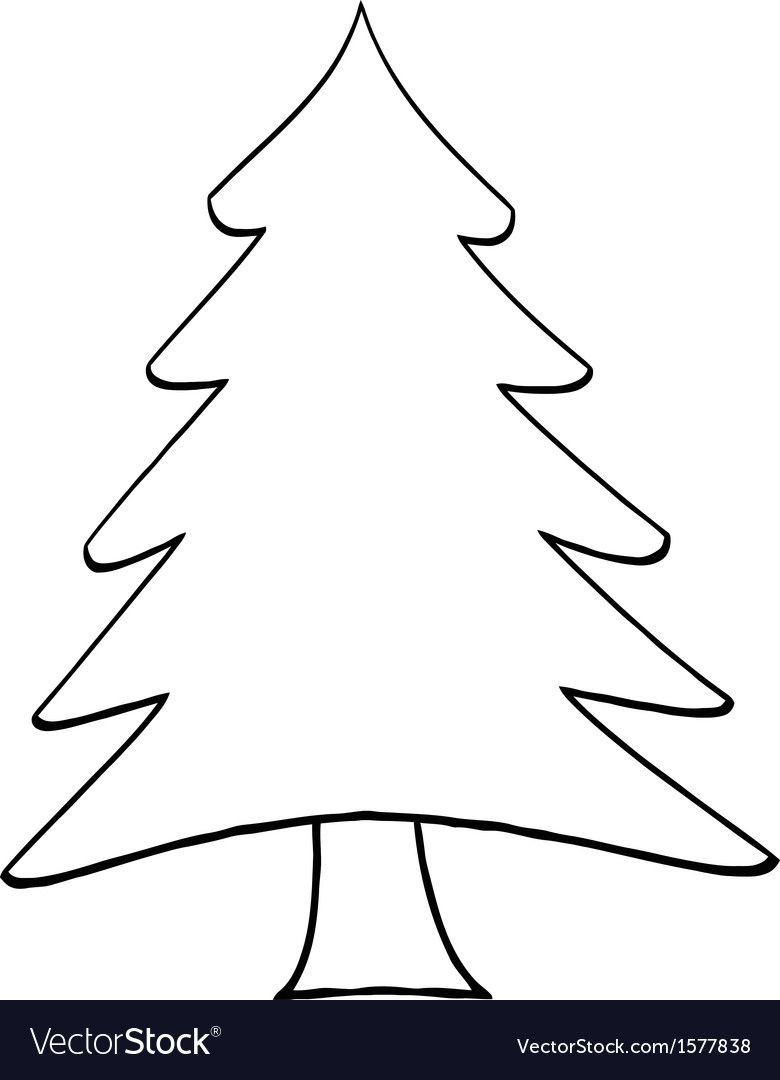 Christmas Tree Cartoon Vector Image On Vectorstock In 2020 Christmas Tree Cartoons Vector Christmas
