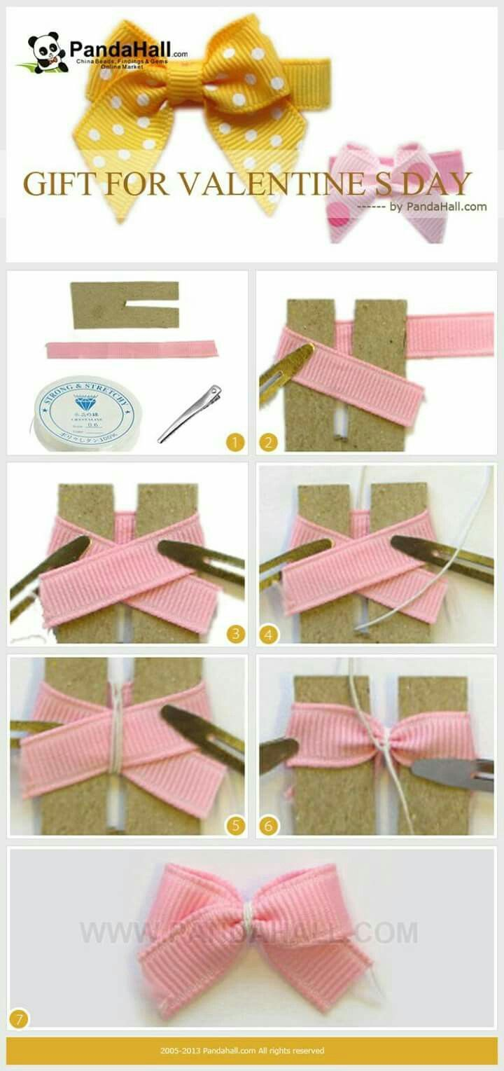 Bow tutorial using cardboard tool #howtomakeabowwithribbon