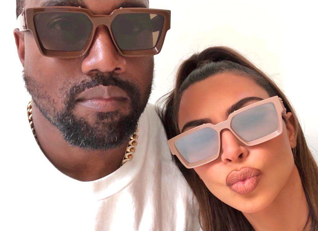 Kanye West On Instagram Kanye Kimkardashian In Their Custom Louisvuitton 1 1 Millionaire Louis Vuitton Sunglasses Kim Kardashian Kim Kardashian And Kanye
