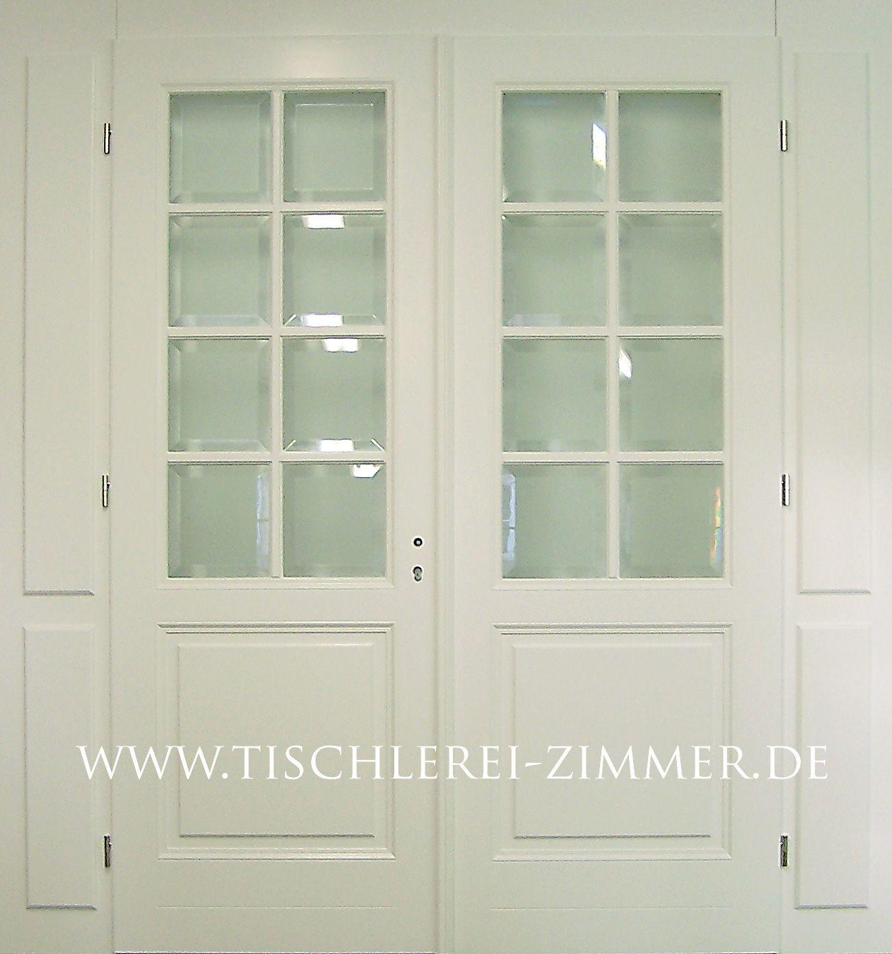 Zweiflügelige innentür  eine zweiflügelige Innentür mit facettiertem Glas | Kassettentüren ...