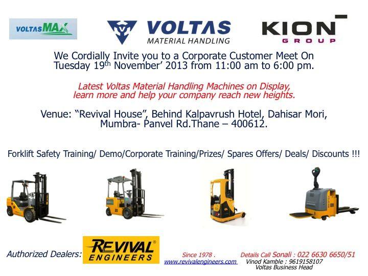 Voltas Reachtrucks, Stackers, Forklifts