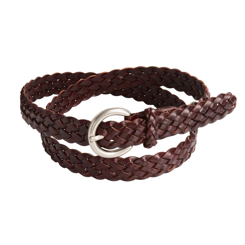 Woolrich Edgewood Braided Leather Belt (For Women) in Chestnut