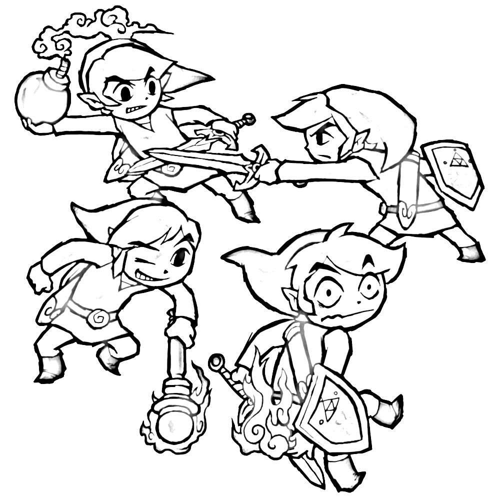 legend of zelda coloring page - Google Search | Colouring Pages ...