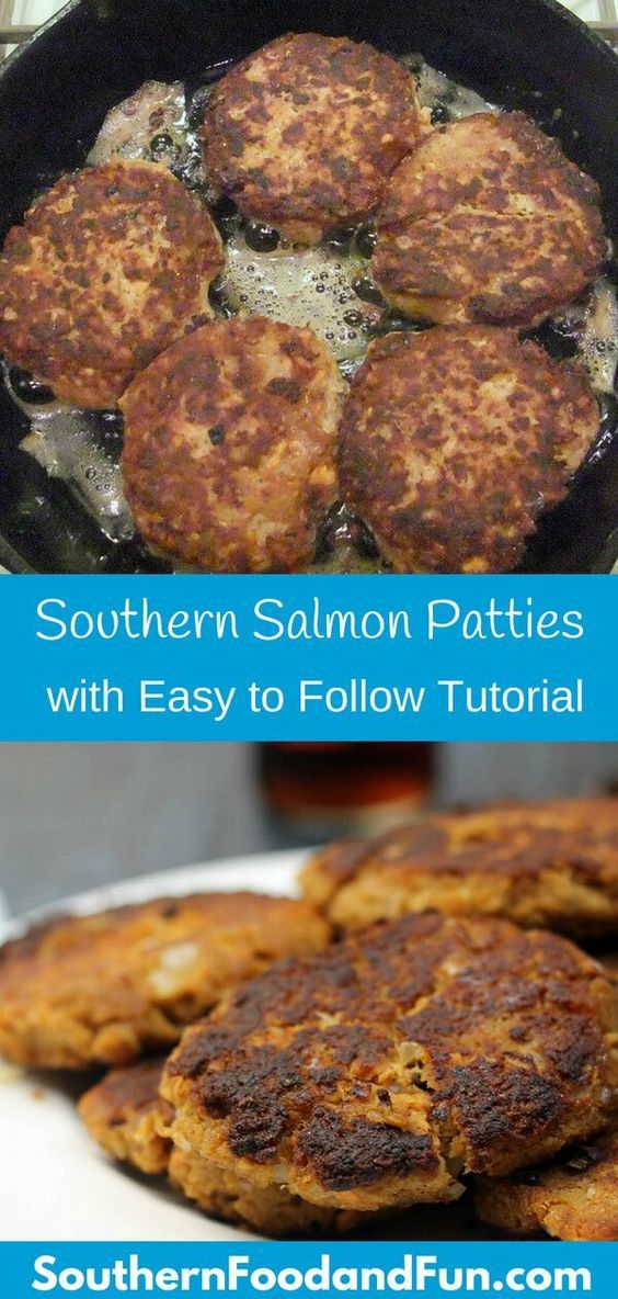 How to Make Salmon Patties with Canned Salmon #salmonpatties