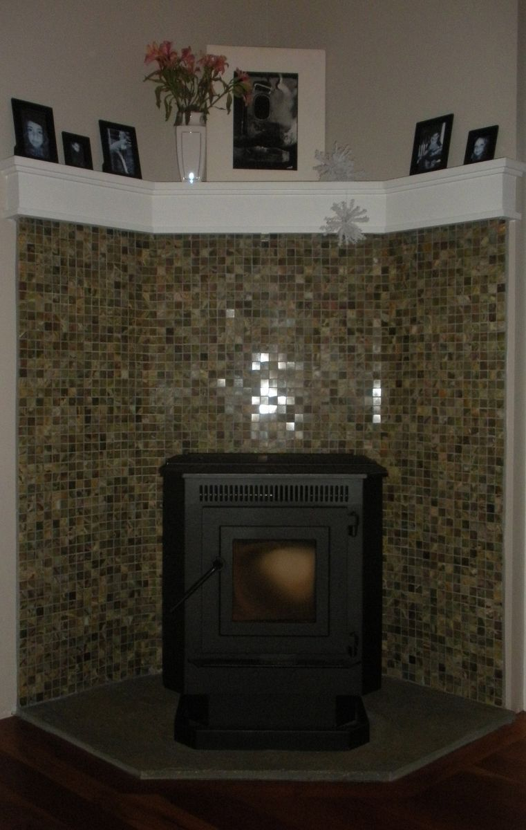 Custom Made Fireplace Corner Pellet Stove. This is what I ...