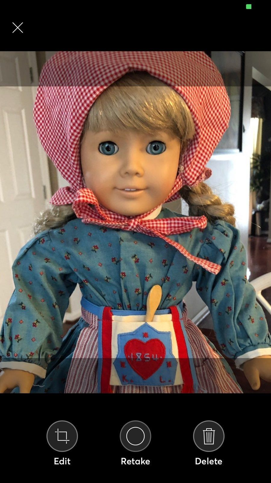 "American Girl 18/"" Doll Kirsten Meet Socks ONLY Retired PC Pleasant Company"