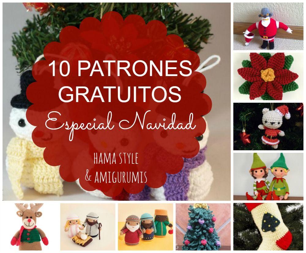 Amigurumis Navideños Patrones Gratis : Hama style & amigurumis: 10 patrones especial navidad [gratis