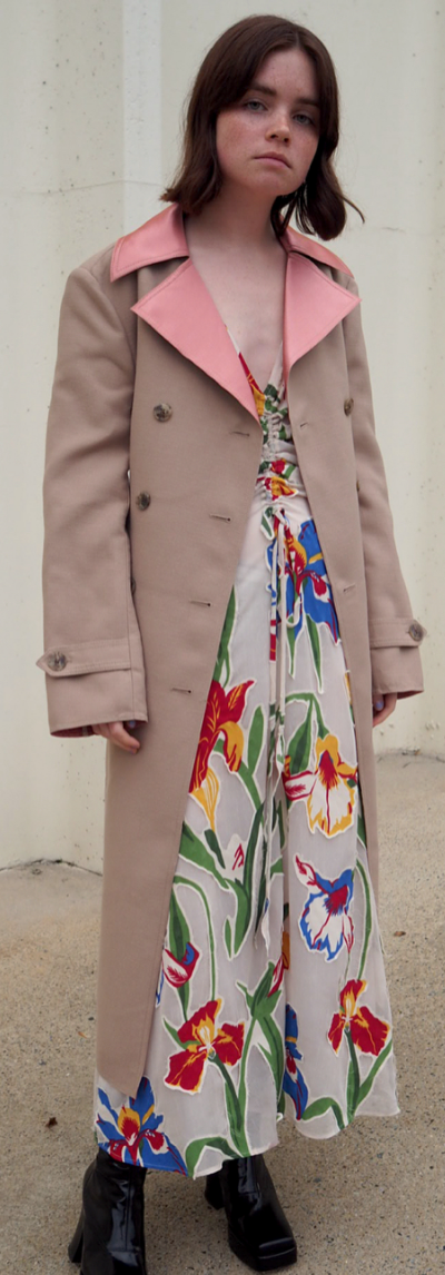 4189d31c9f Reese Blutstein wearing the Tory Burch Clarissa Dress and Nina Coat ...