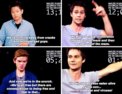 Dylan O'Brien and his Maze Runner: Scorch Trials castmates sum up the series'…