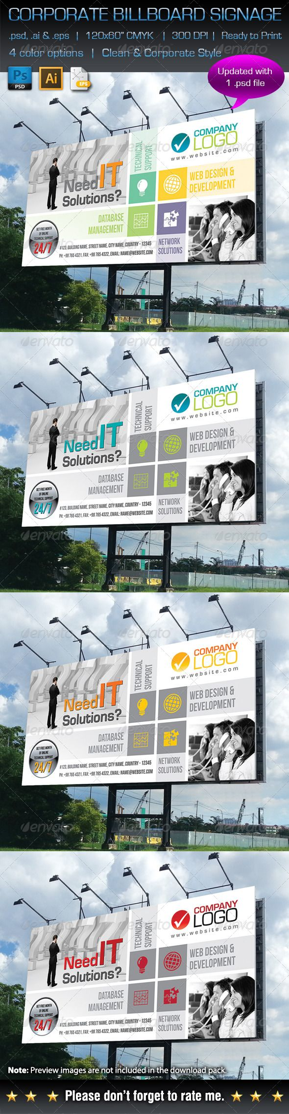 Corporate Business Billboard Signage Template #design Download: http://graphicriver.net/item/corporate-business-billboard-signage/6235061?ref=ksioks