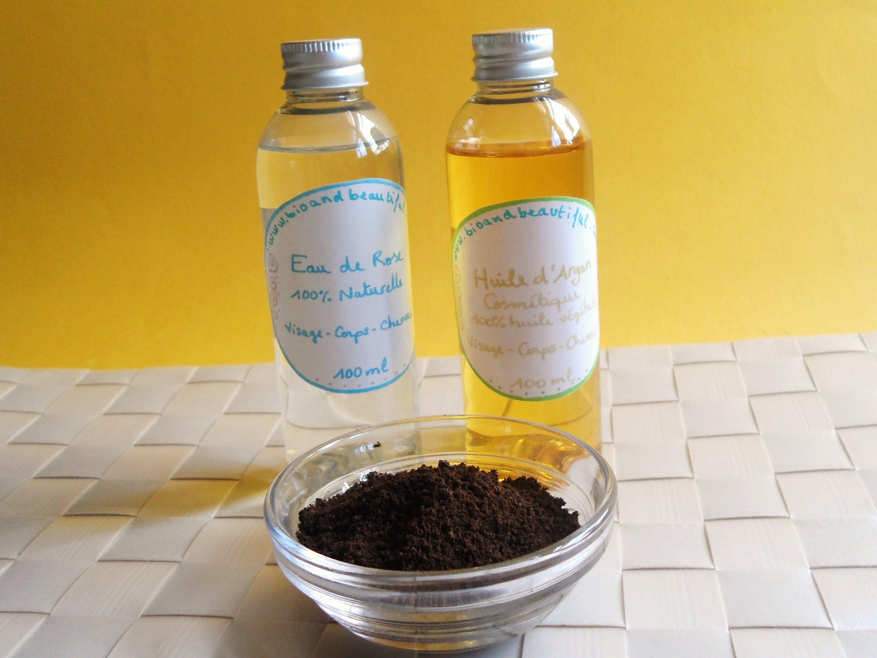 Recette De Gommage Naturel Marc De Cafe Eau De Rose Et Huile D Argan Sugar Scrub Cafe Beauty