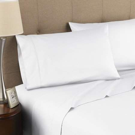 Westpoint Home 300 Thread Count Certified Organic Cotton Twin Brilliant White Sheet Set