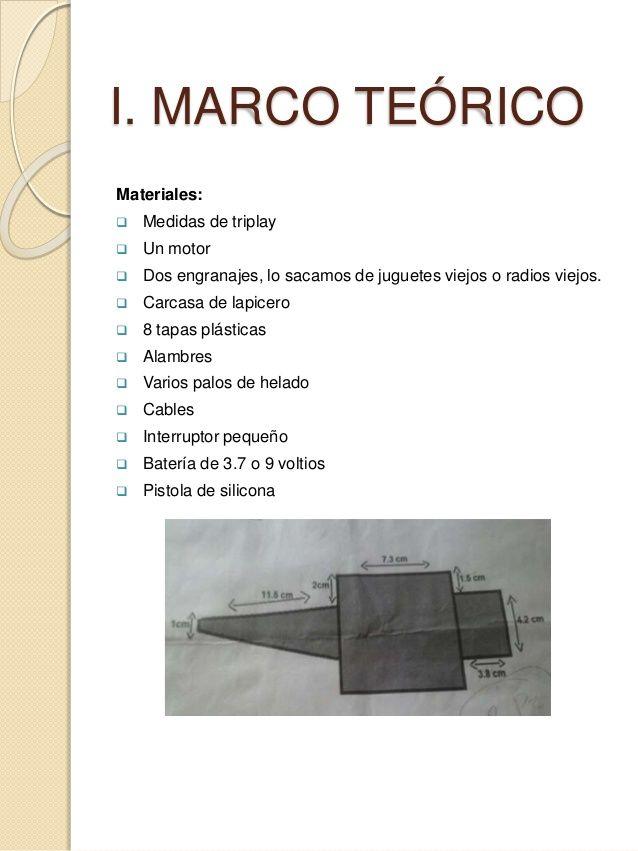 I Marco Teorico Materiales Medidas De Triplay Un Motor
