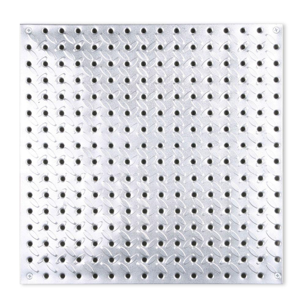 Knape Vogt 16 In X 16 In Diamond Plate Galvanized Steel Pegboard 0204 1616 Peg Board Galvanized Steel Diamond Plate