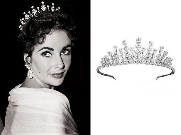 Elizabeth Taylor's Van Cleef  Arpels diamond crown.