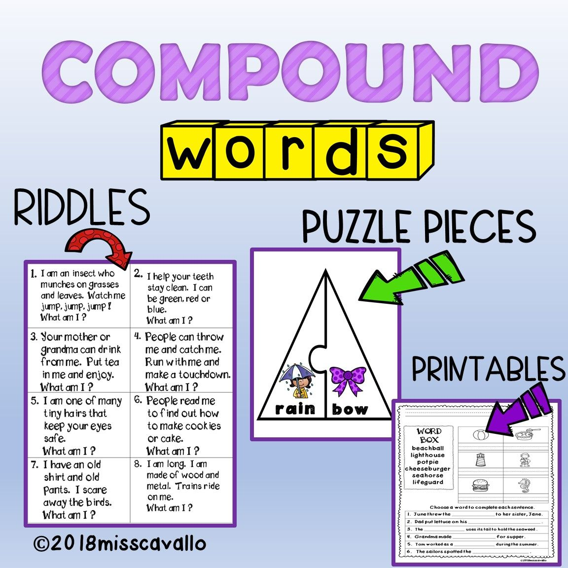 Compound Words Riddles And Puzzles
