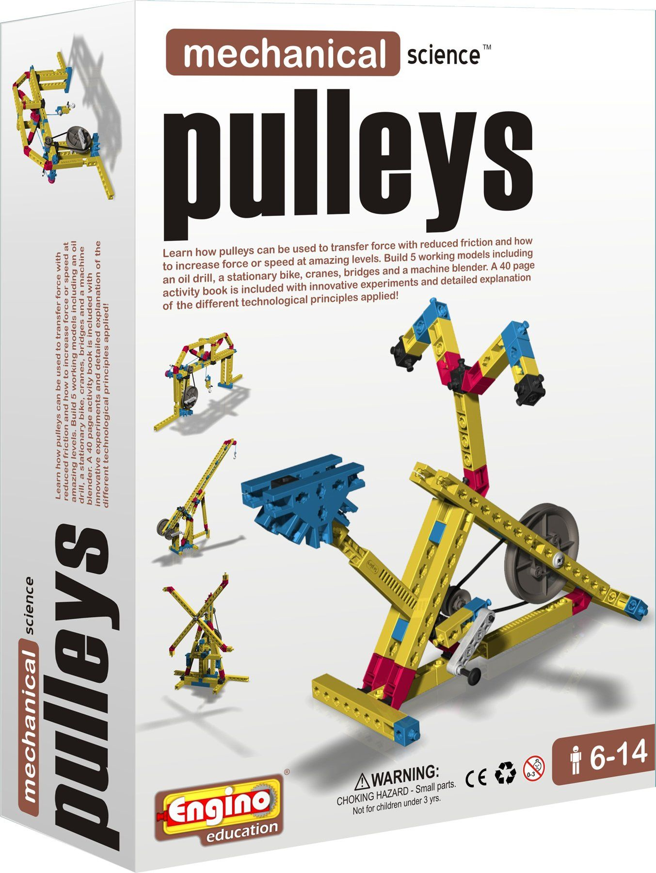 Engino mechanical science pulleys toys