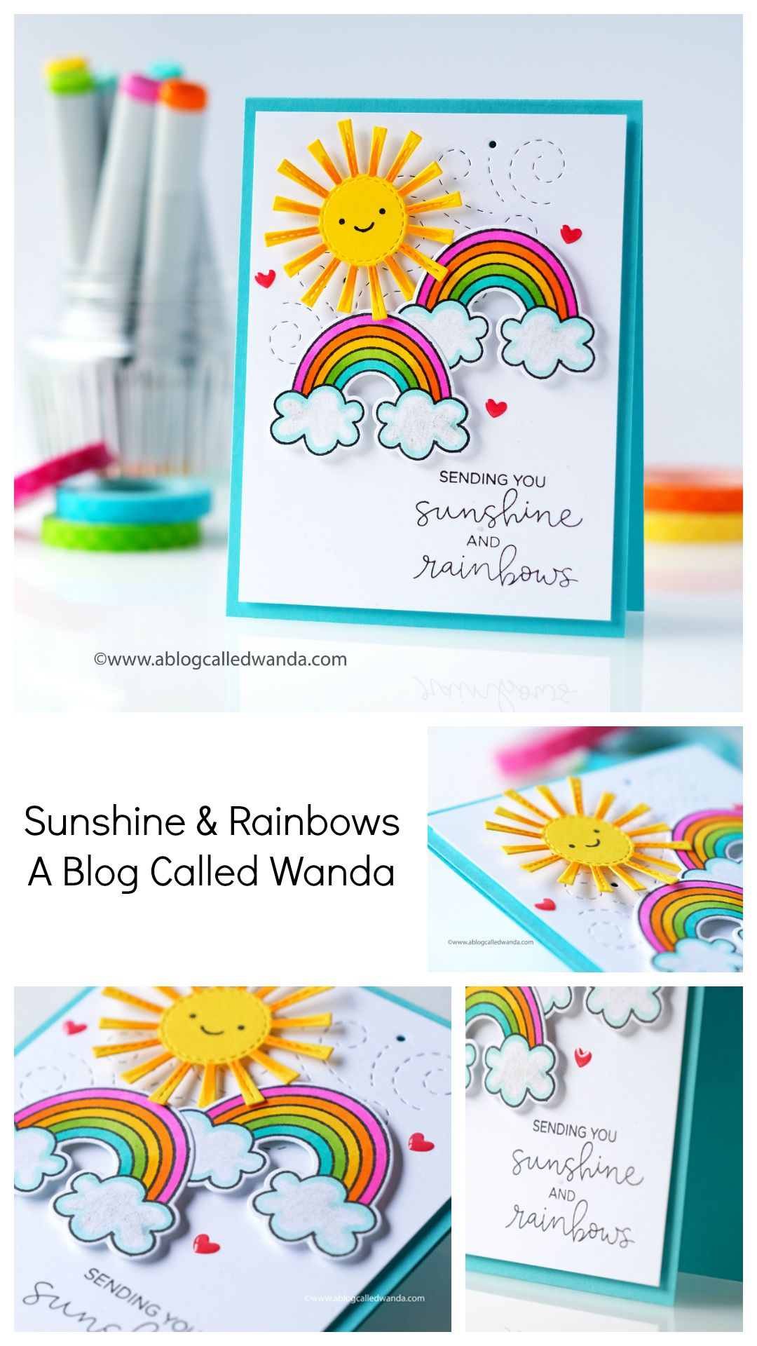 Sunshine & Rainbows!  Rainbow card, Cool birthday cards, Birthday