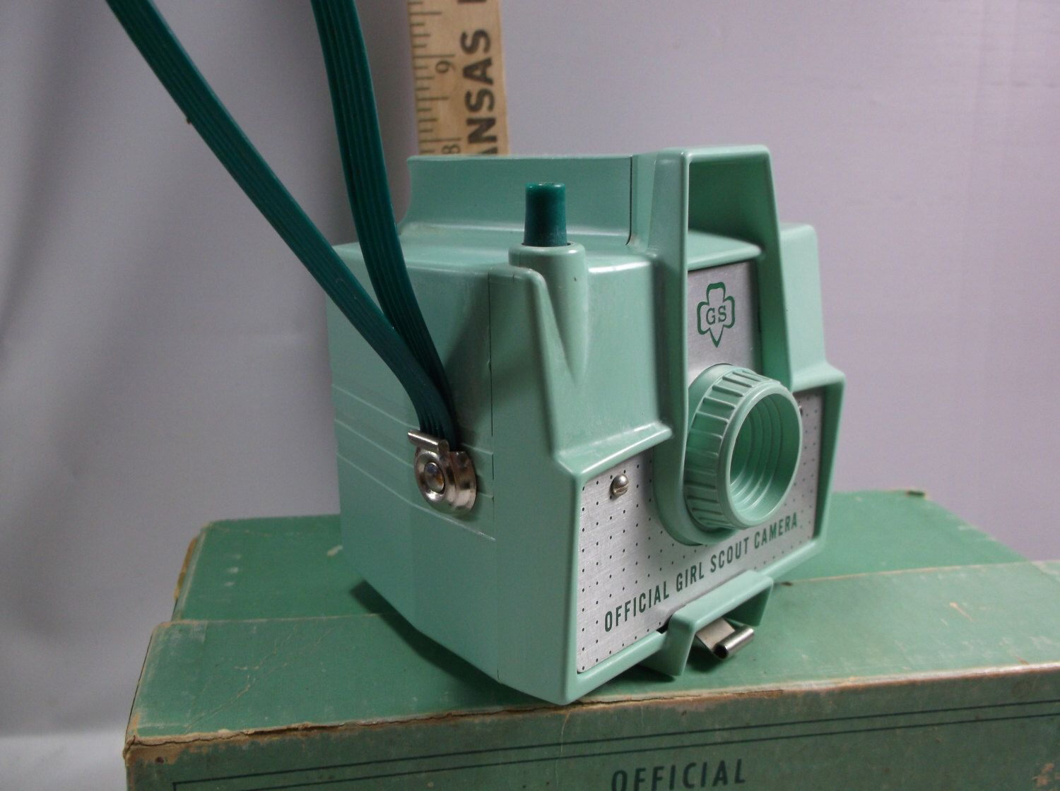 Decorative Camera Mint Green Vintage Imperial Official Girl Scout Camera  With Box Takes 620 film Not Tested.epsteam by retroricks on Etsy https://www.etsy.com/listing/245272967/decorative-camera-mint-green-vintage