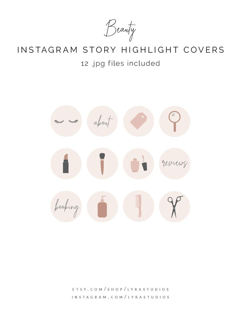 Beauty Instagram Highlight Covers Mua Icons Hairstylist Etsy In 2020 Instagram Highlight Icons Instagram Beauty Icons