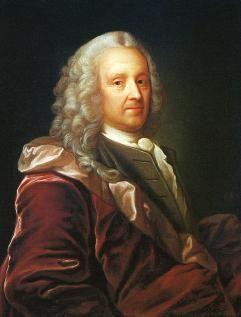 Jørgen Roed (1808-1888): Portrait of Norwegian/Danish author Ludvig Holberg (1684-1754), 1847