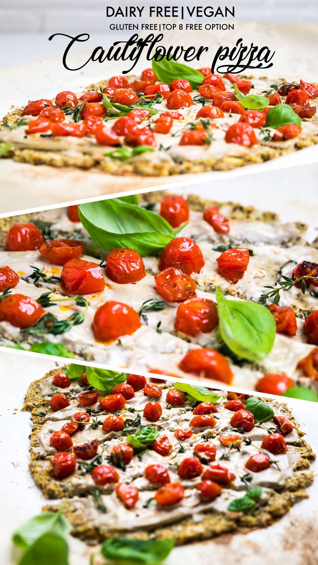 Dairy Free Cauliflower Pizza Crust Vegan Make It Dairy Free