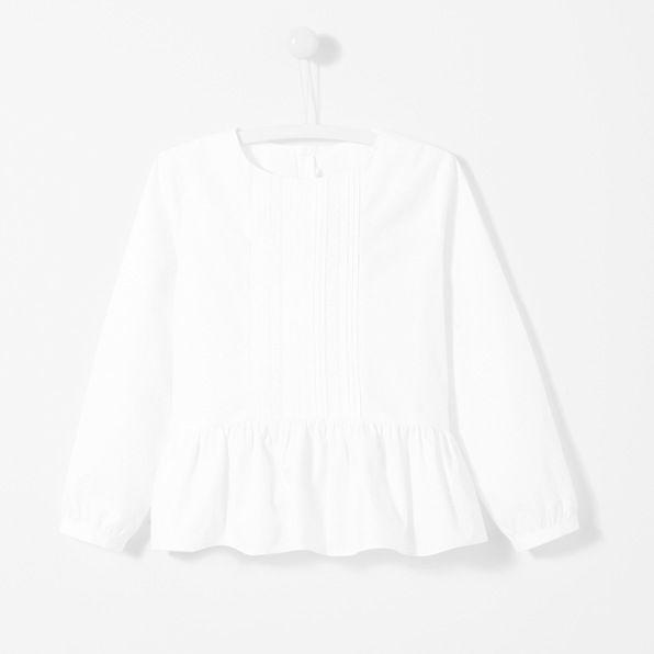 Pleat front blouse
