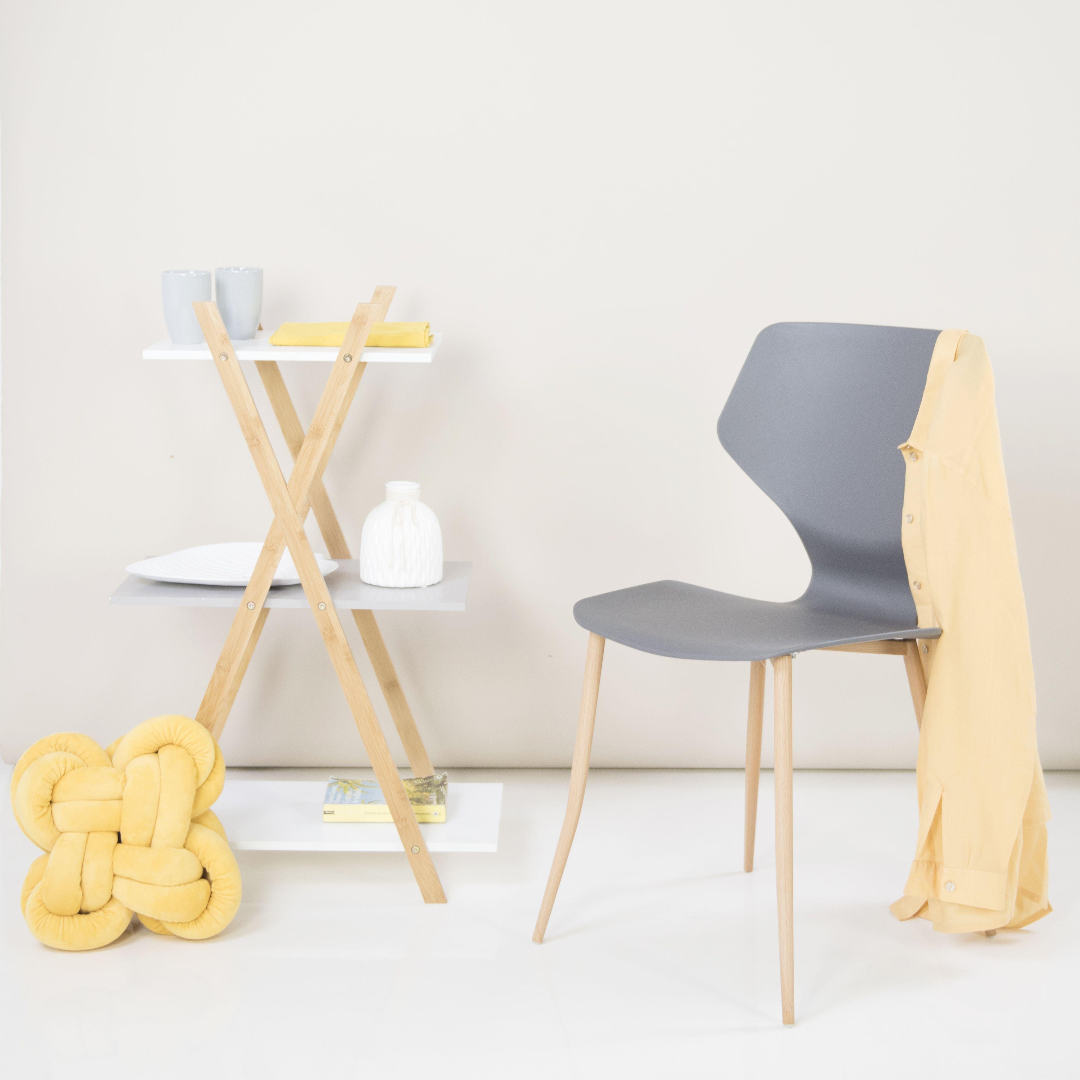 Modern műanyag szék, antracit FOURMI   FAVI.hu