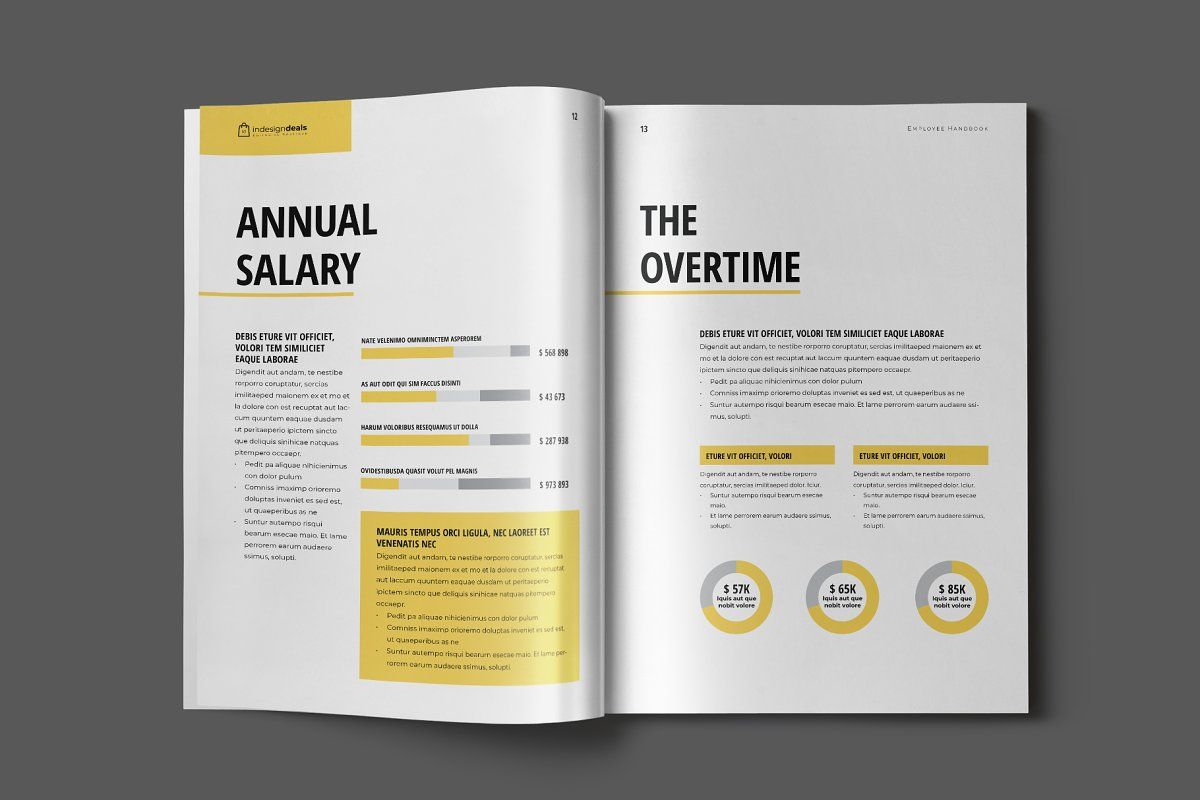 Employee Handbook Template Employee Handbook Template Employee Handbook Brochure Design Template