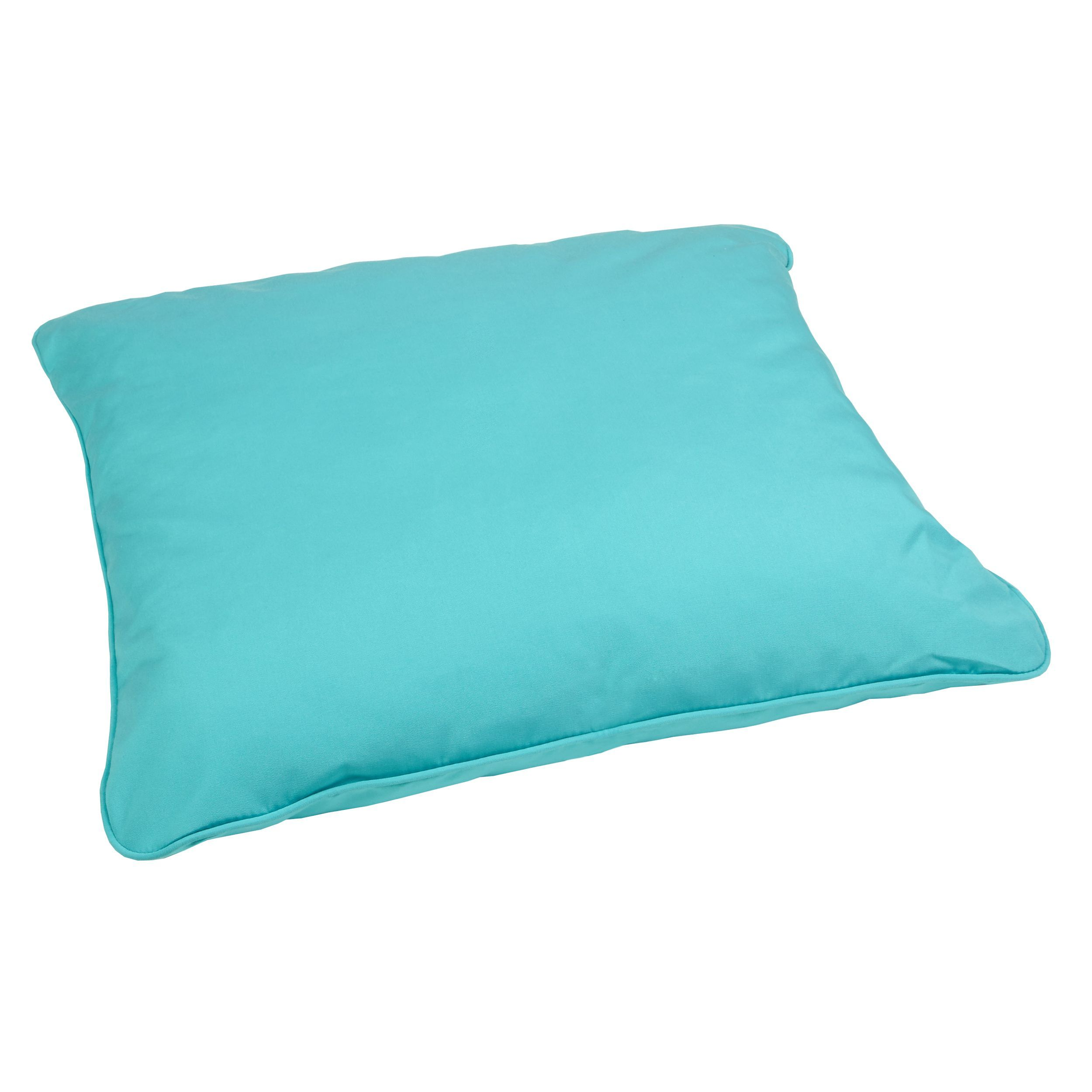 Aruba Blue Indoor Outdoor 26 Inch Square Floor Pillow With