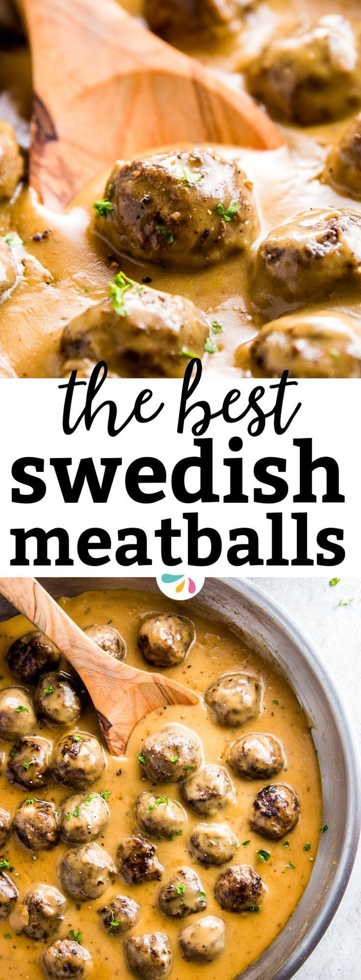 Easy Swedish Meatballs are homemade meatballs in a rich brown gravy sauce. They're simple to make and taste delicious - your whole family will love them, they really are the best! Try them for dinner with mashed potatoes or egg noodles tonight - better than a trip to IKEA! | #recipes #meatballs #beef #beefrecipes #kidfriendly #comfortfood #food