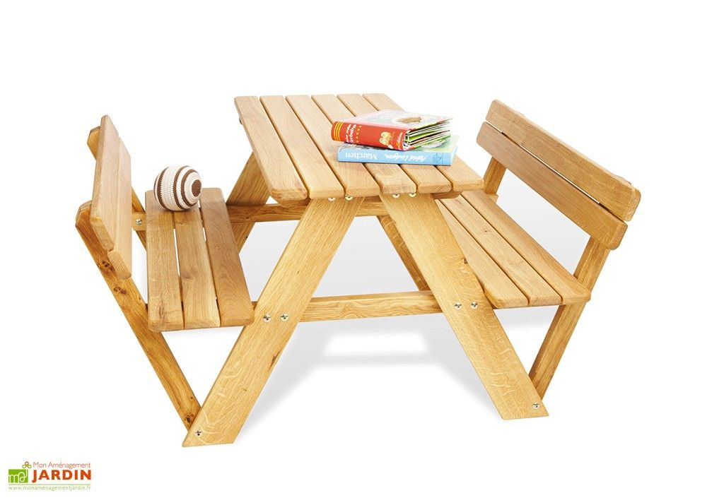 table de pique nique en bois pour