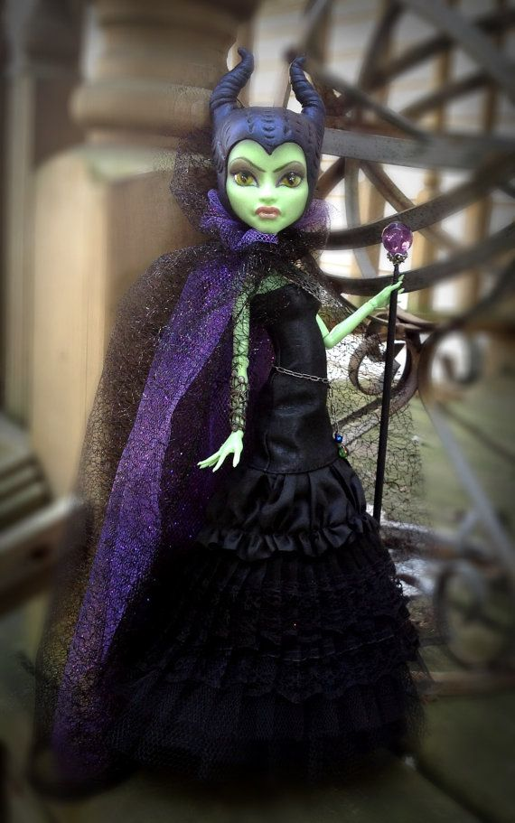 Maleficient Custom Monster High Doll by DolliciousCustoms on Etsy.  My mom would love this.