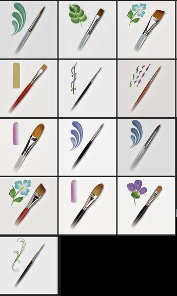 36+ Pinceles para decorar unas trends