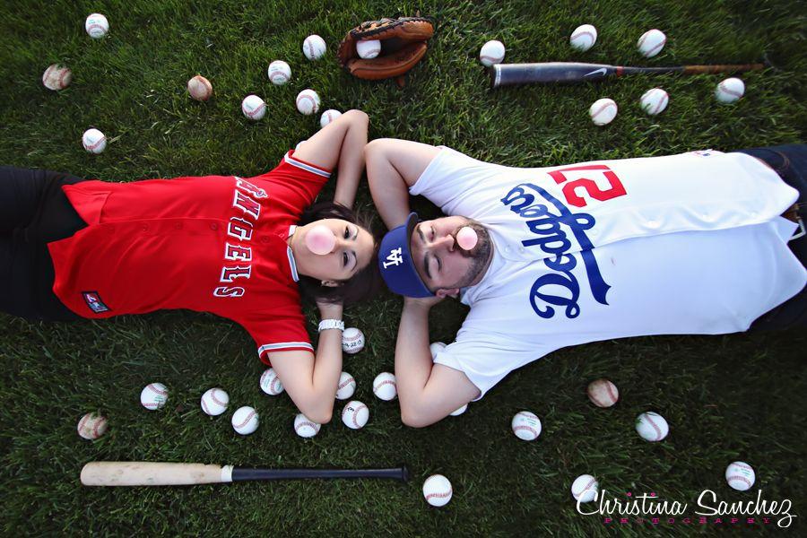 Baseball engagement session christina sanchez