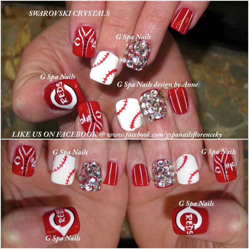 Cincinnati Red Nails So Need To Find Someone Do This For Me