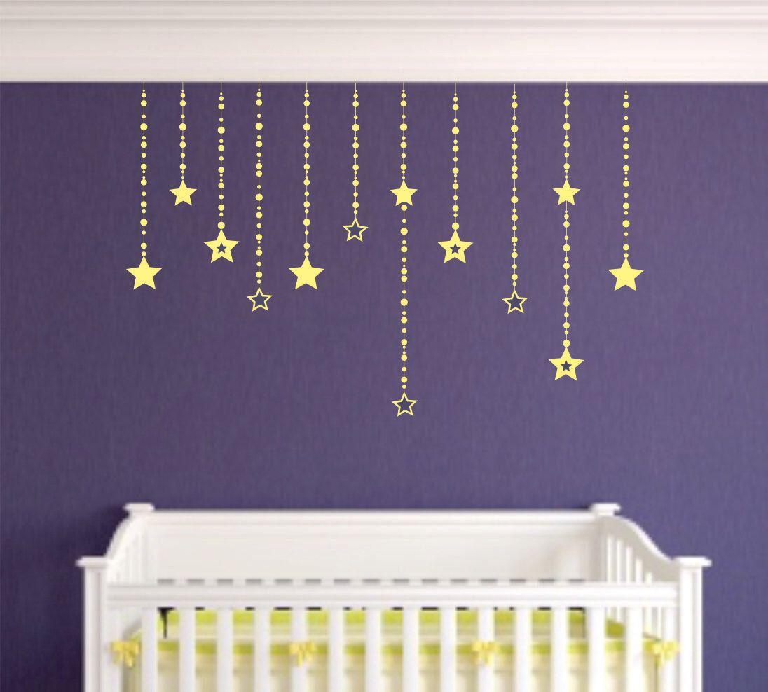 Falling Stars Wall Decals Decor S Bedroom Moon Celestrial