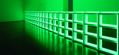 Dan Flavin, Untitled (to you, Heiner, with Admiration and Affection), 1973, Tubes fluorescents, New York, Dia Art Foundation, © Dan Flavin, Adagp, Paris, 2013 / Photo Dia Art Foundation