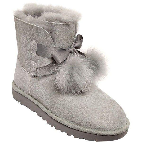 fb39ebe0069 Ugg Australia Women Gita Shearling Boots W/ Pompoms ($375) ❤ liked ...