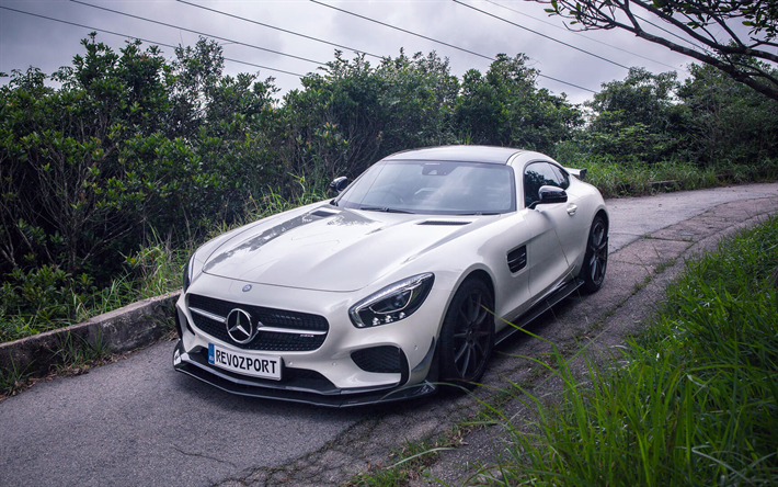 Hämta bilder RevoZport, tuning, Mercedes-AMG GT S, tyska bilar, 2017 bilar, supercars, Mercedes