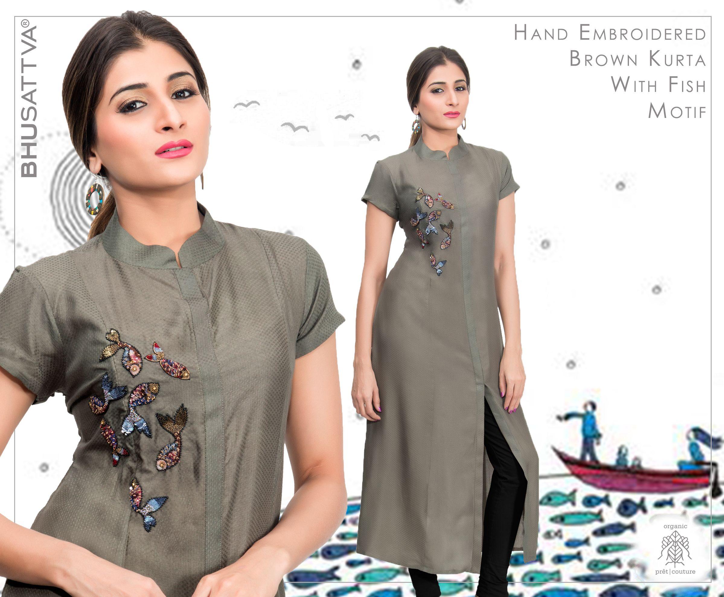 Flaunt this elegant brown kurta with hand embroidery, from the house of #Bhusattva • • • • #Bhusattva #Organic #Pret #Couture #Sequins #Kurta #HandEmbroidered #SkinFriendly #BreatheEasy #ReflectOrganic #RevealYourself #iWearBhusattva #BelieveWhatYouWear #TrustNature #MysticalNature #CloseToNature #OrganicIdeology #OrganicCollection #NaturalDyes #EcoFashion #OrganicFashion #SustainableFashion #GoOrganic #WearOrganic #DesignerLabel #DesignerWear #EcoFriendly