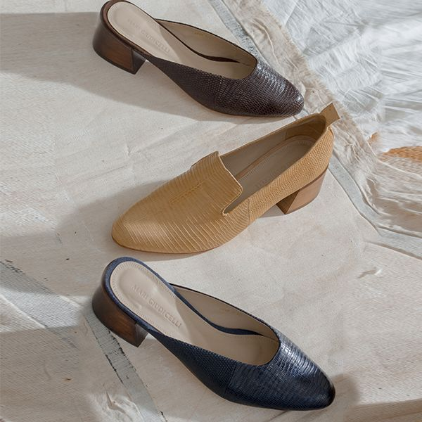 Mari Giudicelli's chic new mules and loafers make their online debut only on ModaOperandi.com