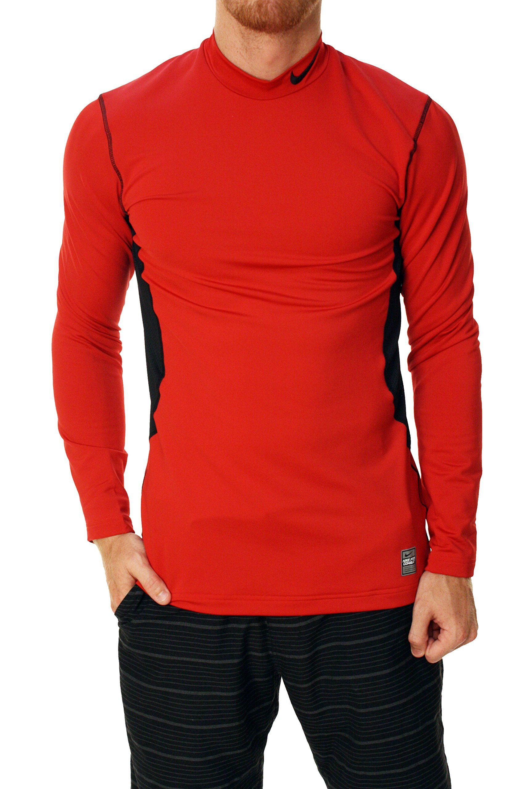 Men's Pro Dri Fit Red Combat Max Mock Top Training Nike Hyperwarm 5HqIdwqx