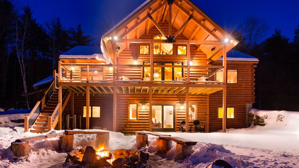 A Vermont Log Home Celebrates The Holidays Cabin Log