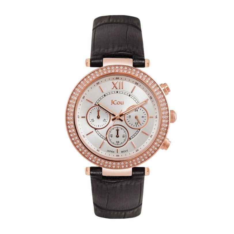 Γυναικείο κομψό ρολόι JCou JU16017-7 με ασημί καντράν a932ceb91c1