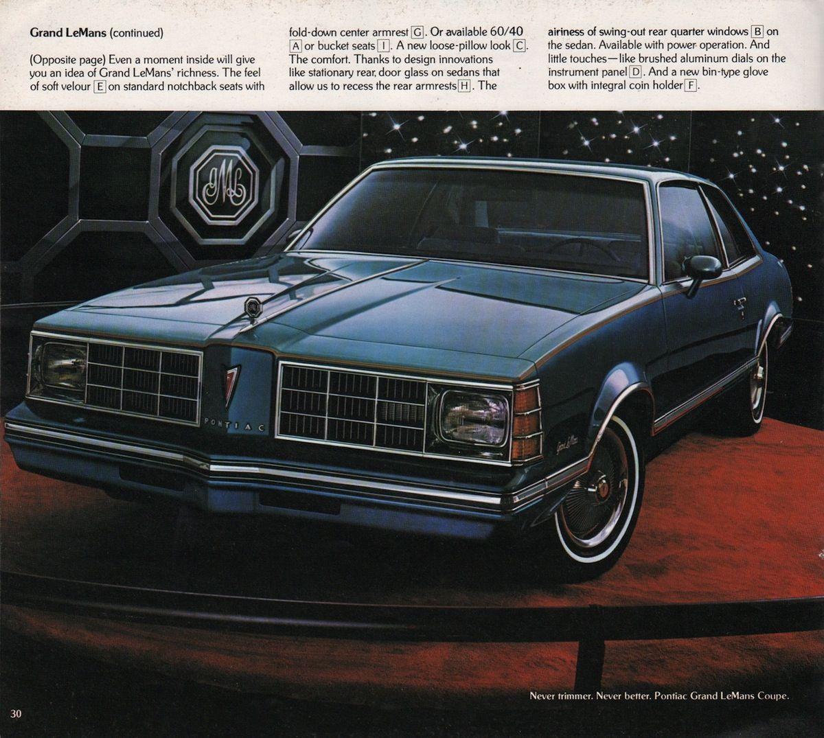 pontiac 1978 lemans grand lemans and grand am 70 39 s 80. Black Bedroom Furniture Sets. Home Design Ideas