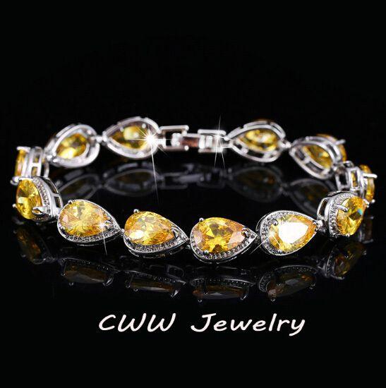 Cheap bracelet spiral, Buy Quality bracelet big directly from China bracelet keychain Suppliers: Classic My Mona Lisa Jewelry White Gold Plated Red Black Purple Big CZ Diamond Chain Bracelets For Women CB125USD 13.20/