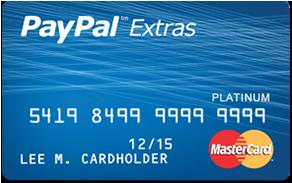 PayPal Extras MasterCard Virtual credit card, Credit card online