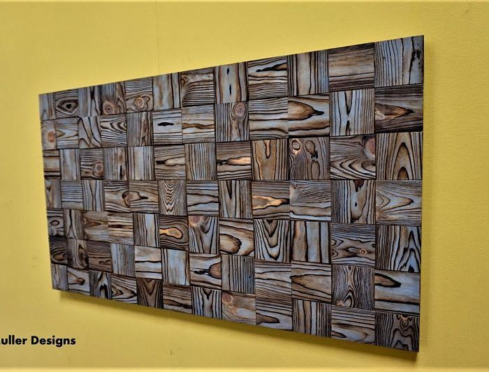 Reclaimed wood wall art #reclaimedwoodwallart