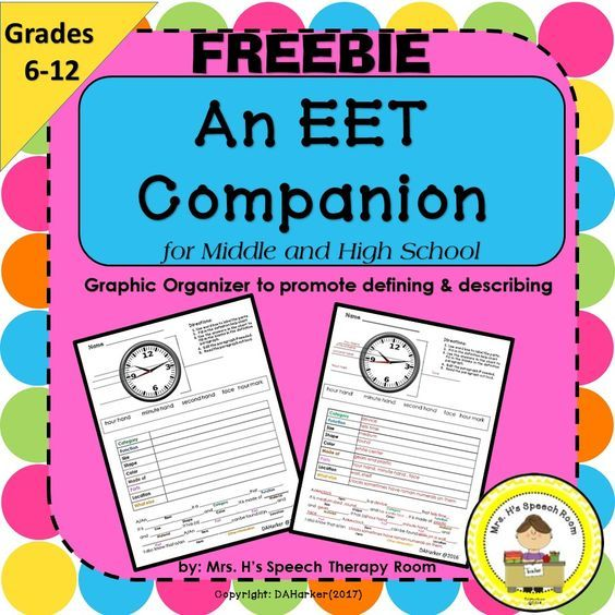 Free- EET Companion-Speech- ELA-ELL Fun and Easy to use, students easily write an informative paragraph!